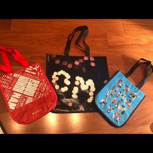 3 Lululemon Reusable Shopping bags